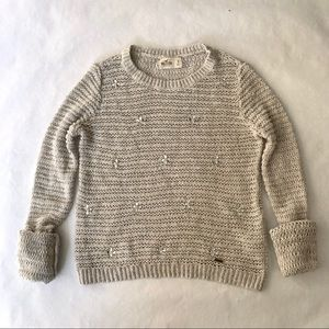Hollister sparkle knit sweater rhinestone - small